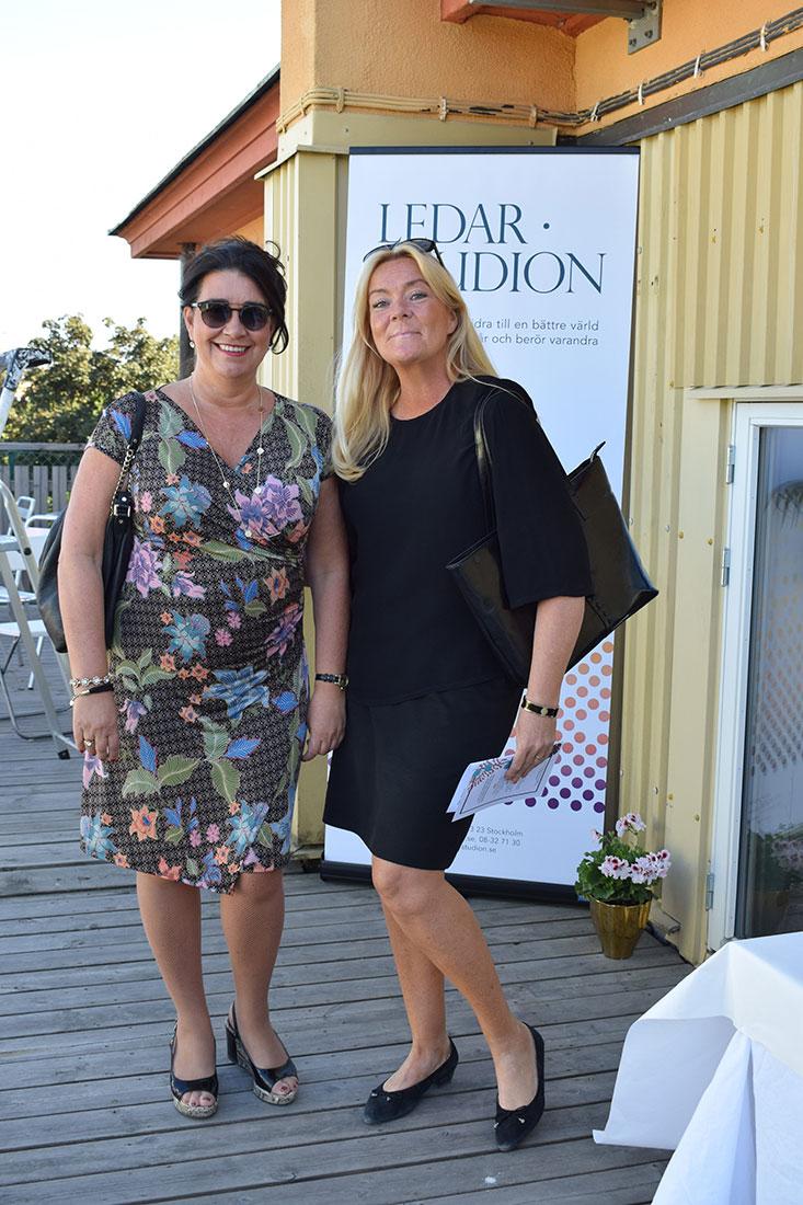 Sylvia Nylin med vän