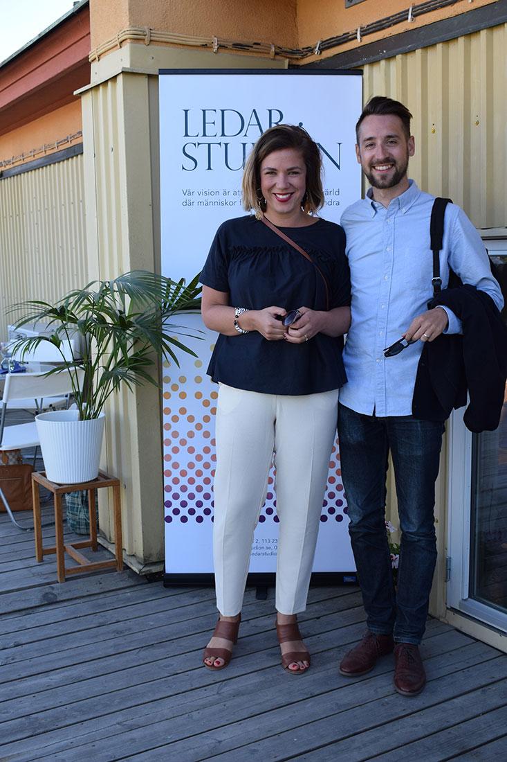 Rebecca Sundström med make